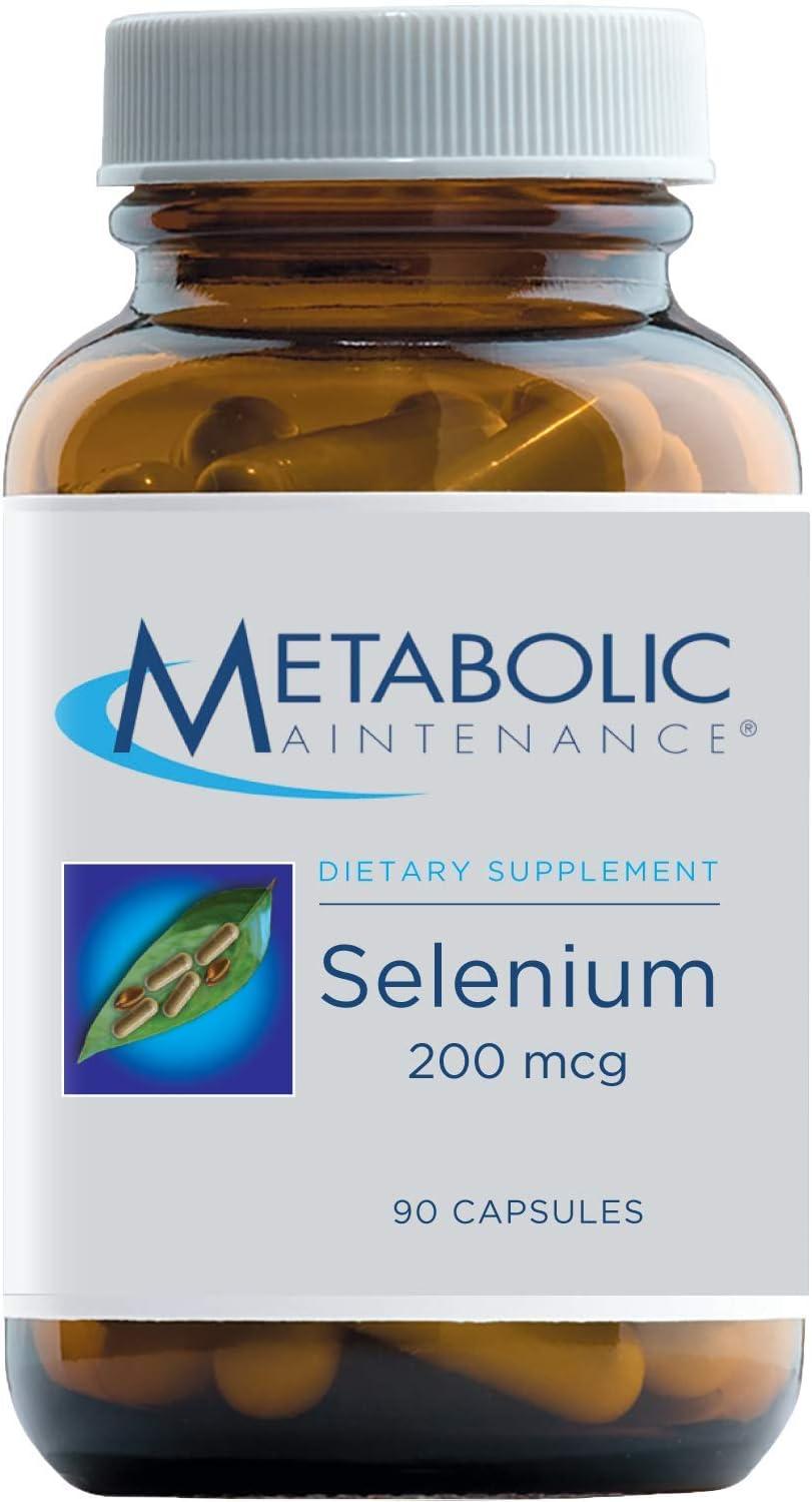 Metabolic Maintenance Selenium - 200mcg L-Selenomethionine Form for Superior Bioavailability, with Vitamin C - Detox, Immune + Antioxidant Support Supplement (90 Capsules)