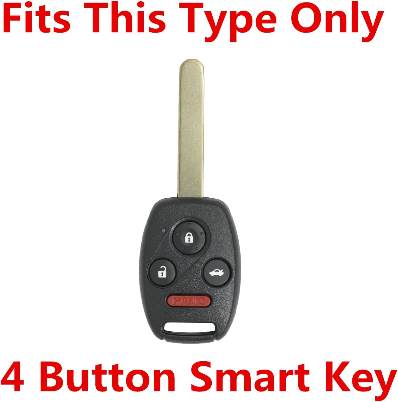 gules Rpkey Silicone Keyless Entry Remote Control Key Fob Cover Case protector For Honda Accord Accord Crosstour CR-V Civic Element Pilot OUCG8D-380H-A N5F-S0084A N5F-A05TAA