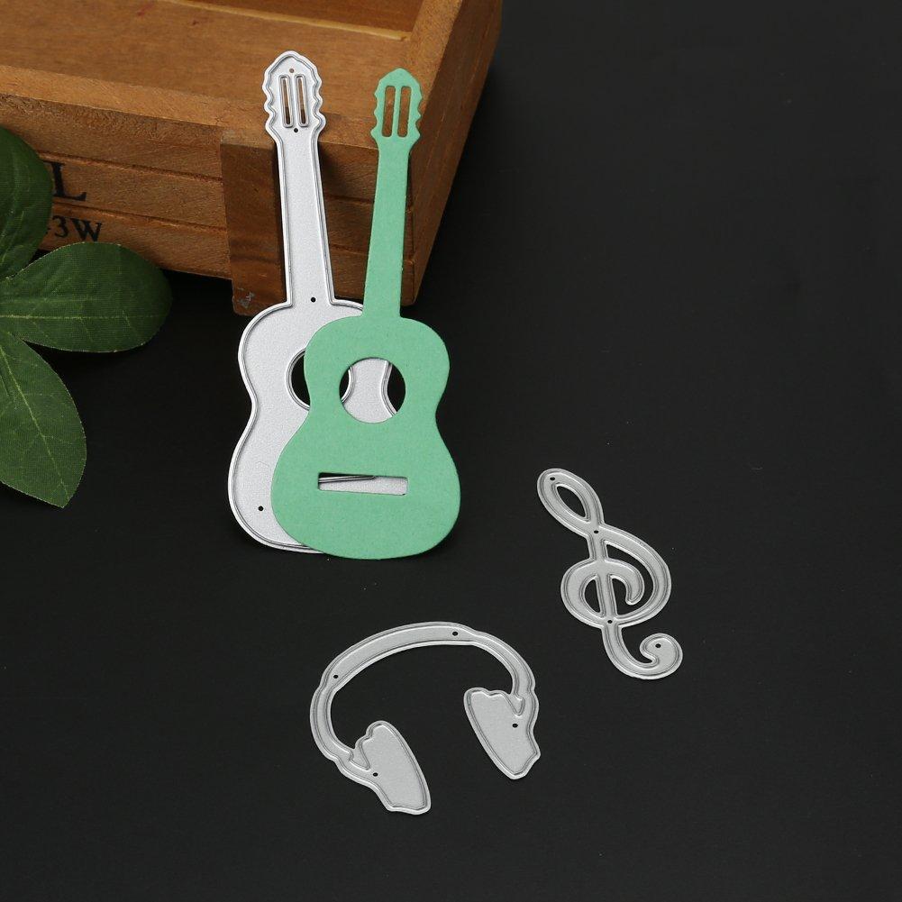aediea 9/Scrapbooking Gitarre Piano Edelstahl sterben Schnitt-Schablone aus Metall Hand Craft f/ür Decor