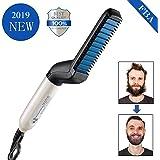 Beard Straightener Beard Straightening heat brush Hair Straightening Comb For Man Quick Styling Comb Hair Curlers Hair Straightener Magic Massage Comb