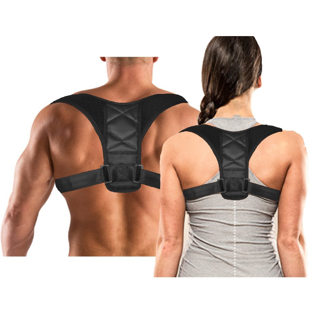Ali-Mak Max Comfort Posture Corrector Clavicle Support Brace to Improve Posture, Prevent Shoulder Slouching, Heal Back Pain, and Align Shoulders for Men and Women Sports Improvement