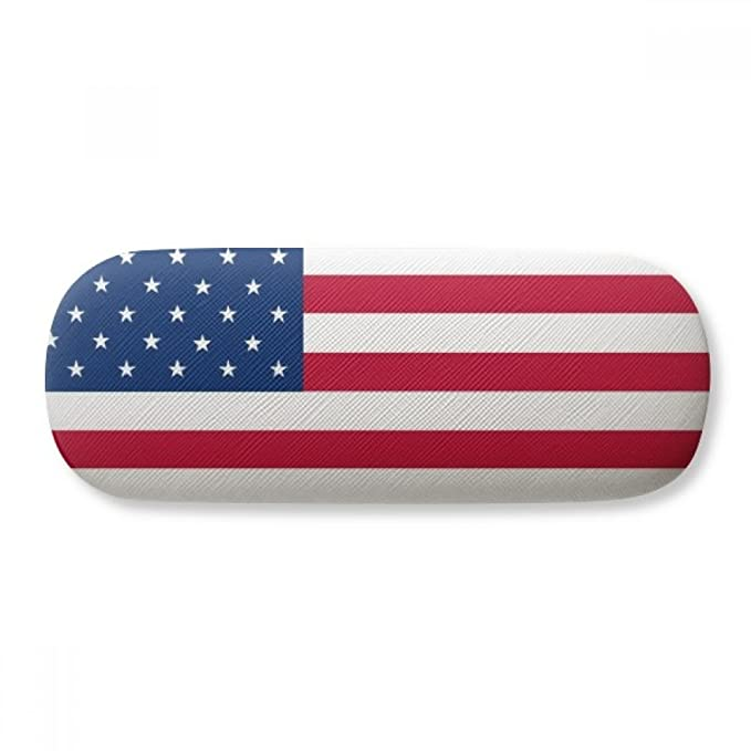 Usa National Flag North America Country Glasses Case Eyeglasses Clam