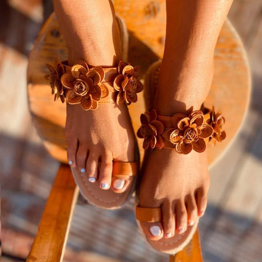 Challyhope Sweet Cute Pineapple Pearls Sandals Clip Toe Flip Flops Boho Casual Flat Slippers Beach Shoes for Women Girls