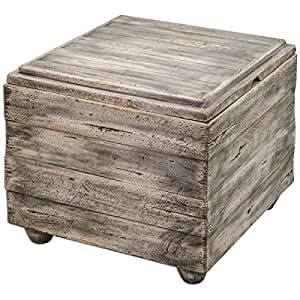 Amazon.com: Uttermost Avner cubeta de Madera Tabla de Accent ...