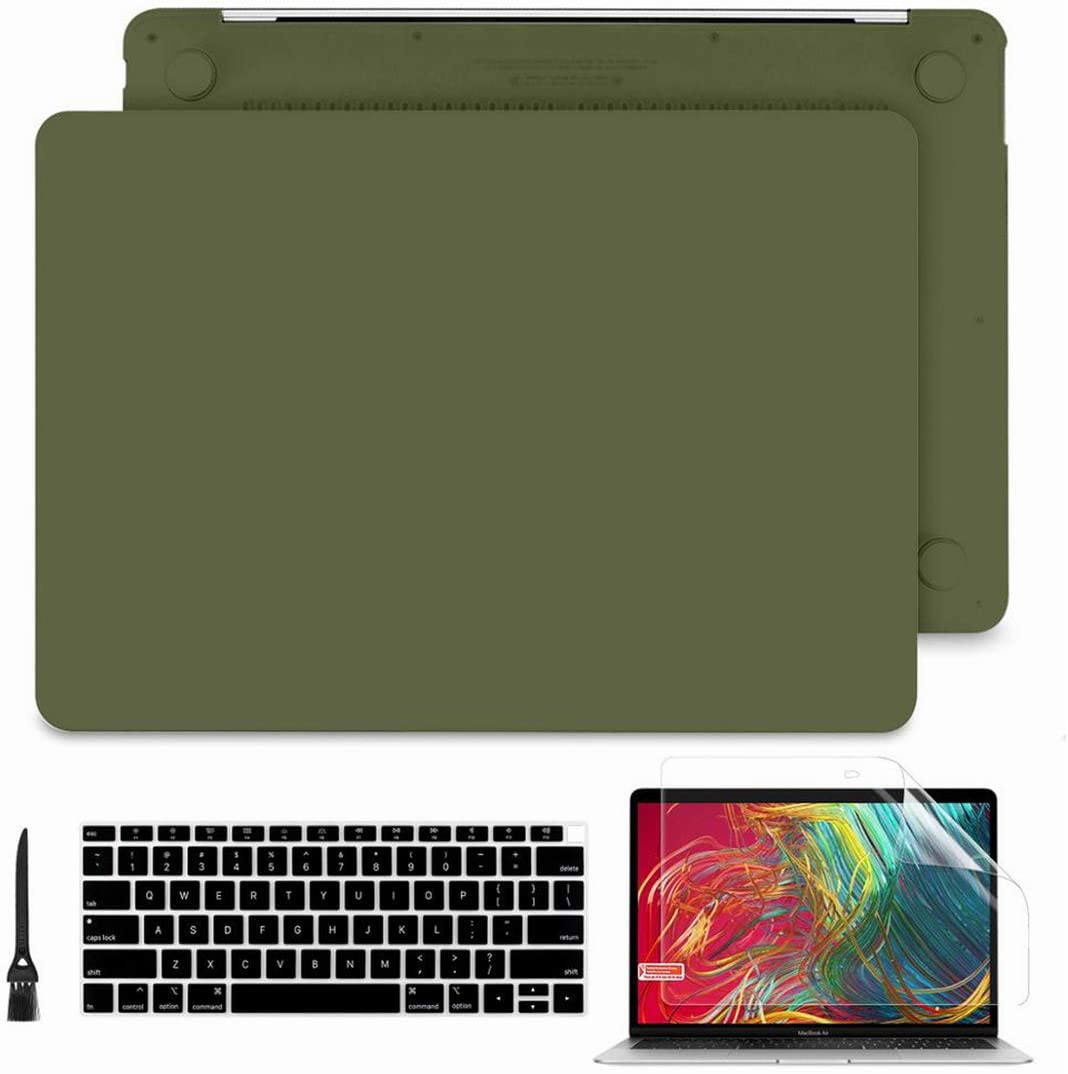 Hard Case Cover for MacBook Air Pro 11 13 15 16 Touch Bar A2159 A1989 A1932 with Keyboard Cover Protector,Crystal Black,Pro 13 Touch Bar