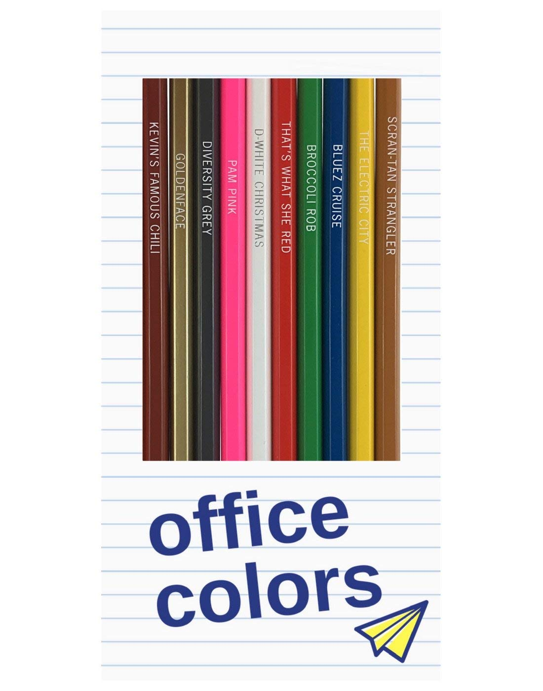 Office Colors: 12 'The Office' TV Parody Colored Pencils by Pun Labs