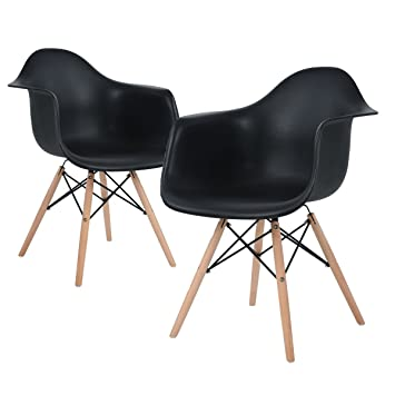 Eggree Inspire Scandinavie Chaise Noir Lot De 2 Salle A