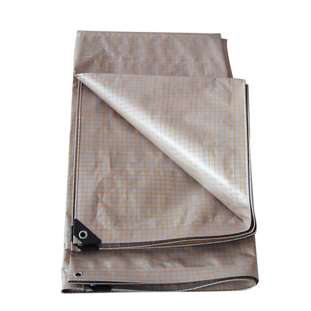 QINCH Regenfestes Tuch wasserdicht Plane dick regendicht wasserdicht Logistik LKW Gebäude staubdicht Winddicht Kunststoff Tuch (Farbe   1 , Größe   6x10M)