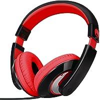 Rockpapa Comfort Stereo On Ear/Over Ear Headphones Earphones, Adjustable Headband for Kids Childs/Adults, iPad MacBook…