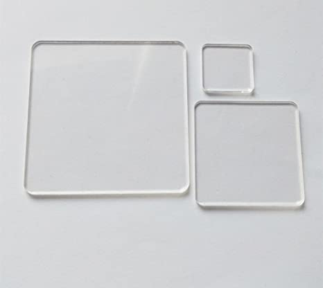 Amazon Com 25pcs Of Blank Clear Acrylic Square Material Plexiglass Laser Cut Square Sheet With Round Corners Diy Accessory 1 8 Thickness 0 50 Arts Crafts Sewing
