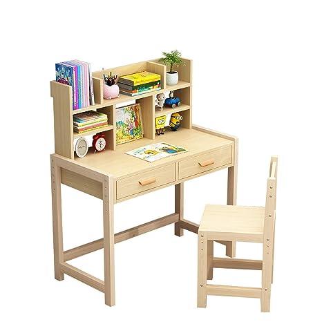 Z.W Juego de Mesa y sillas de crayón de Madera para niños Muebles ...