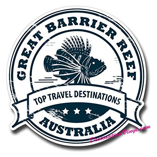 2 x Great Barrier Reef Australia Vinyl Stickers