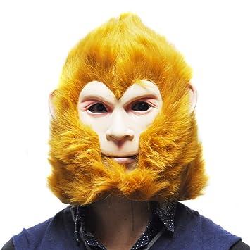 Máscara de Halloween Látex El Rey Mono, del partido de Cosplay del traje de la
