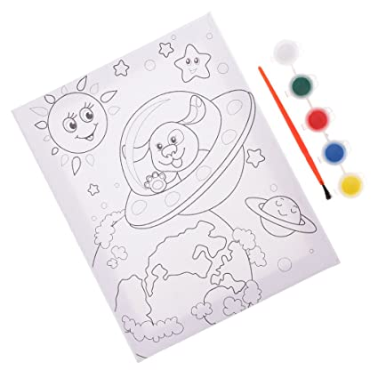 Buy Wooden Frame Canvas Surface Coloring Board Colouring Pads Kids ...