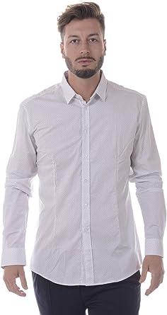 DANIELE ALESSANDRINI - Camisa Hombre C1656R11493607 Camisa Blanca BÁSICA 40: Amazon.es: Ropa y accesorios