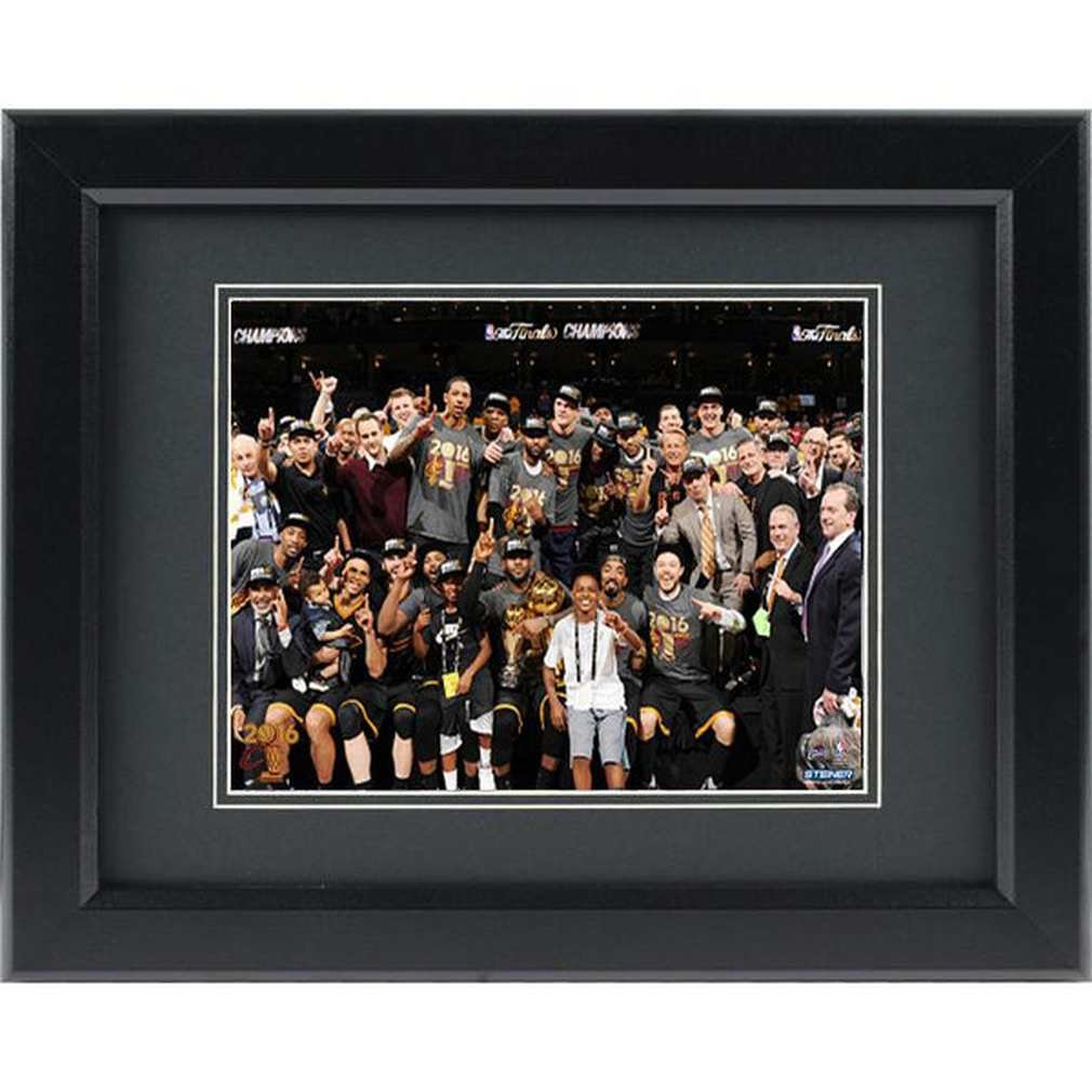 Steiner Sports NBA Cleveland Cavaliers Unisex 2016 NBA Champion Cleveland Cavaliers 8x10 Framed Photo, Navy
