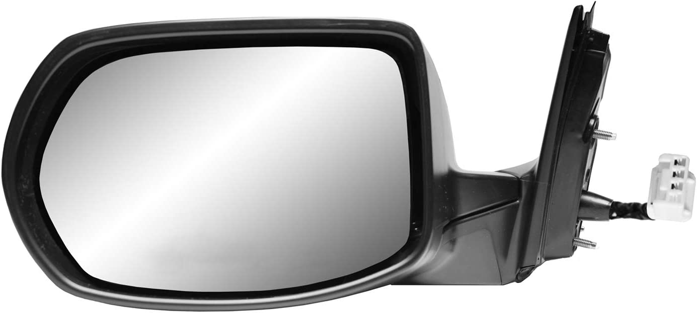 US built, textured black, foldaway Driver Side Mirror for HONDA CR-V LX, Power w//o heater w//o turn signal w//o camera w//o BSDS