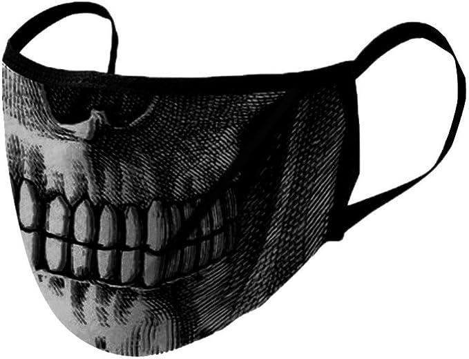 Blingko Face Cover Waschbar Multifunktionstuch Motorrad Winddicht Atmungsaktiv Mundschutz Halstuch 3d Motiv Verstellbare Ohrringe 1 Bekleidung