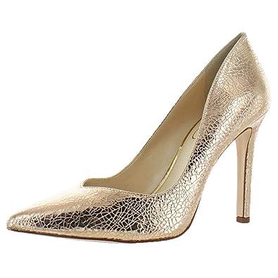430936bc9afc Jessica Simpson Women s Cylvie Metallic V-Cut Pumps Heels Shoes Pink Size 9