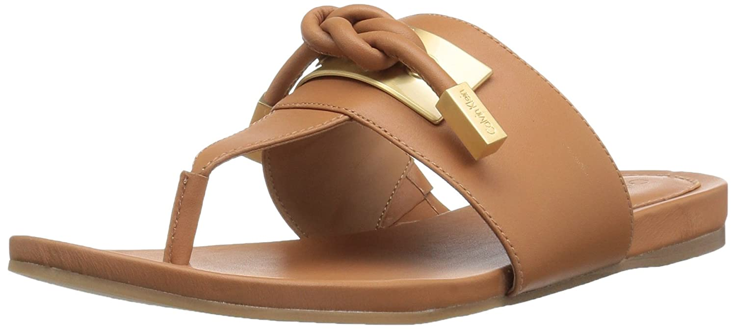 Calvin Klein Women's Parson Toe Ring Sandal B06VW22T3P 7 B(M) US|Almond Tan