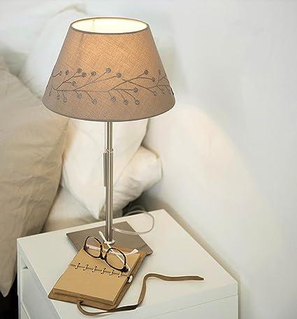 OOFWY E27 IKEA Lámpara de mesa Dormitorio Salón Lámpara de ...
