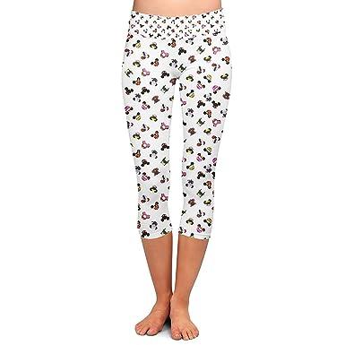 Pantalones Moda Mujer Disney Villanos Orejas De Ratón Capri ...