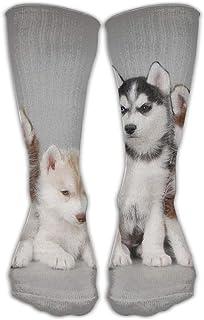 Bgejkos Unisex Classics Socks Animals Dogs Husky Athletic Stockings Long Sock One Size