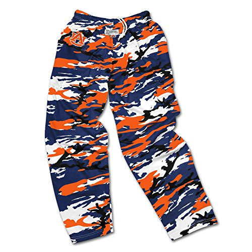 NCAA Auburn Tigers Men's Zubaz Camo Print Team Logo Casual Active Pants, Small, (Team Logo Print)