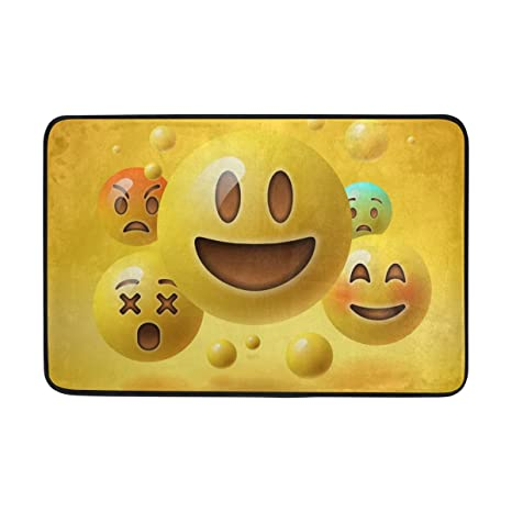 Jstel Yellow Smiley Emoticons Emoji Doormat Indoor Outdoor