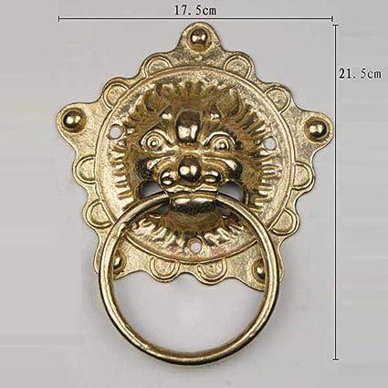 Door Knocker, Decorative Front Door Brass Chinese Monster Door  Knocker Brass     Amazon.com