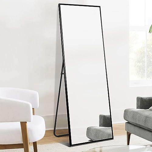 Elevens Full Length Mirror Aluminum Alloy 65″x22″ Floor Mirror,Large Body Mirror