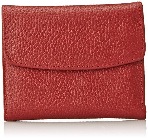 Buxton Mini (Buxton Mini Trifold Wallet Card Case, Dark Red, One Size)