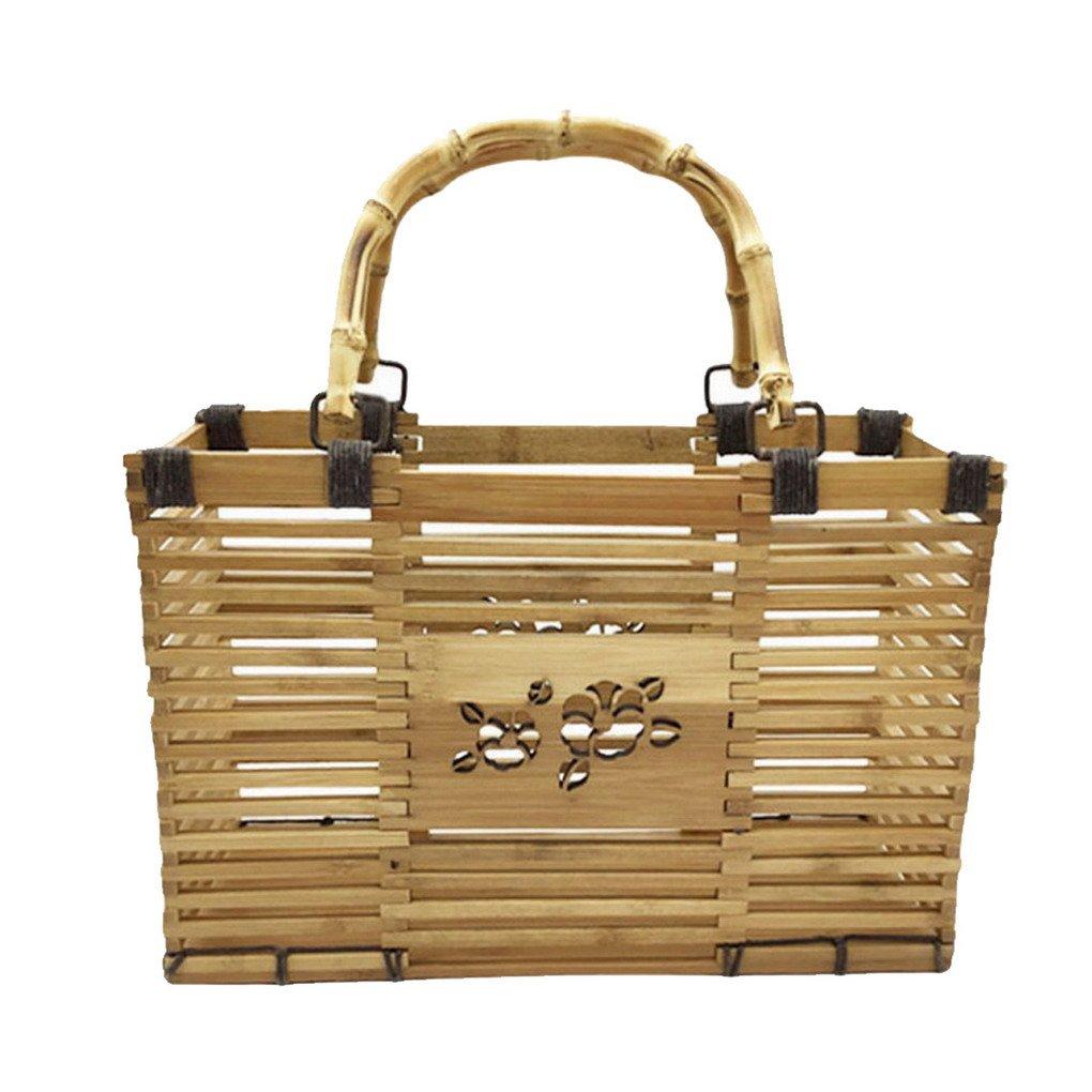 75eef73e5edd2 ACMEDE Damen Handtasche Bambus Handgefertigte Strandtasche Umhängetasche  Shopper mit Griffen  Amazon.de  Koffer