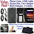Value Pack + for ZTE Uhura ULTRA Quest Legacy N817 Case Designed Wallet Phone Case Grip Textured Kickstand Hybrid Purse Screen Flip Cover (Black)