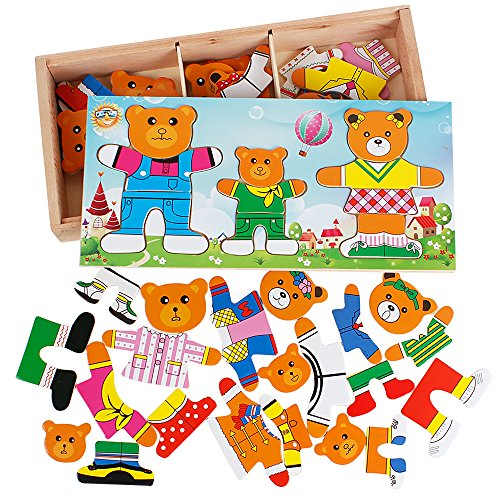 bear family dress up puzzle - 3