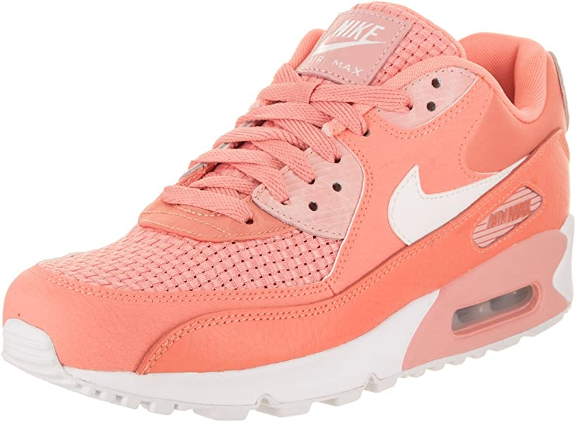 Nike Women s Air Max 90 SE Crimson Bliss White Running Shoe 8.5 Women US 52c95551e