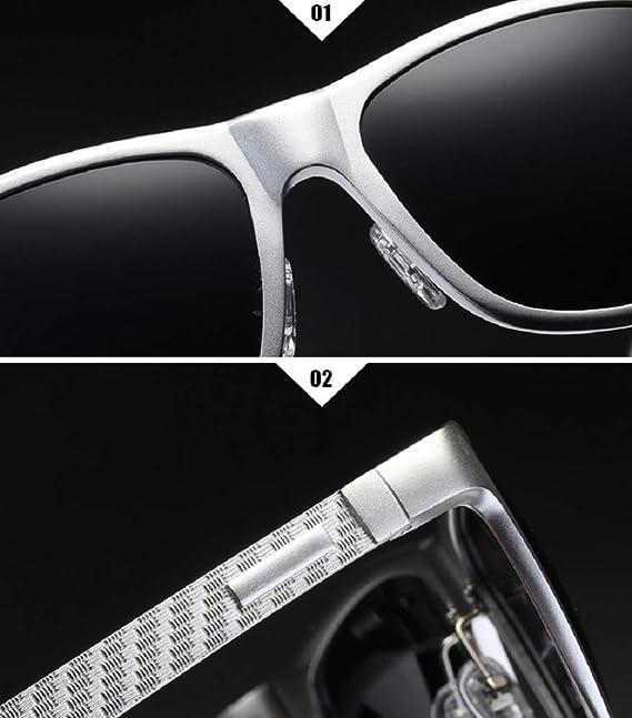 WJP Gafas para Hombres, Lentes de Gafas de Sol polarizadas ...