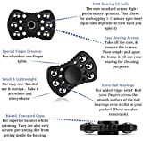 Fidget Spinner Prime, 4-5+ Minutes Spin Time, Therapeutic and Relaxing. ADHD/ADD Focus Anxiety Relief Toys with Premium Design and Durability. Metal Balls = Long Spin. Figit Spinner. Hexa Spinning Toy