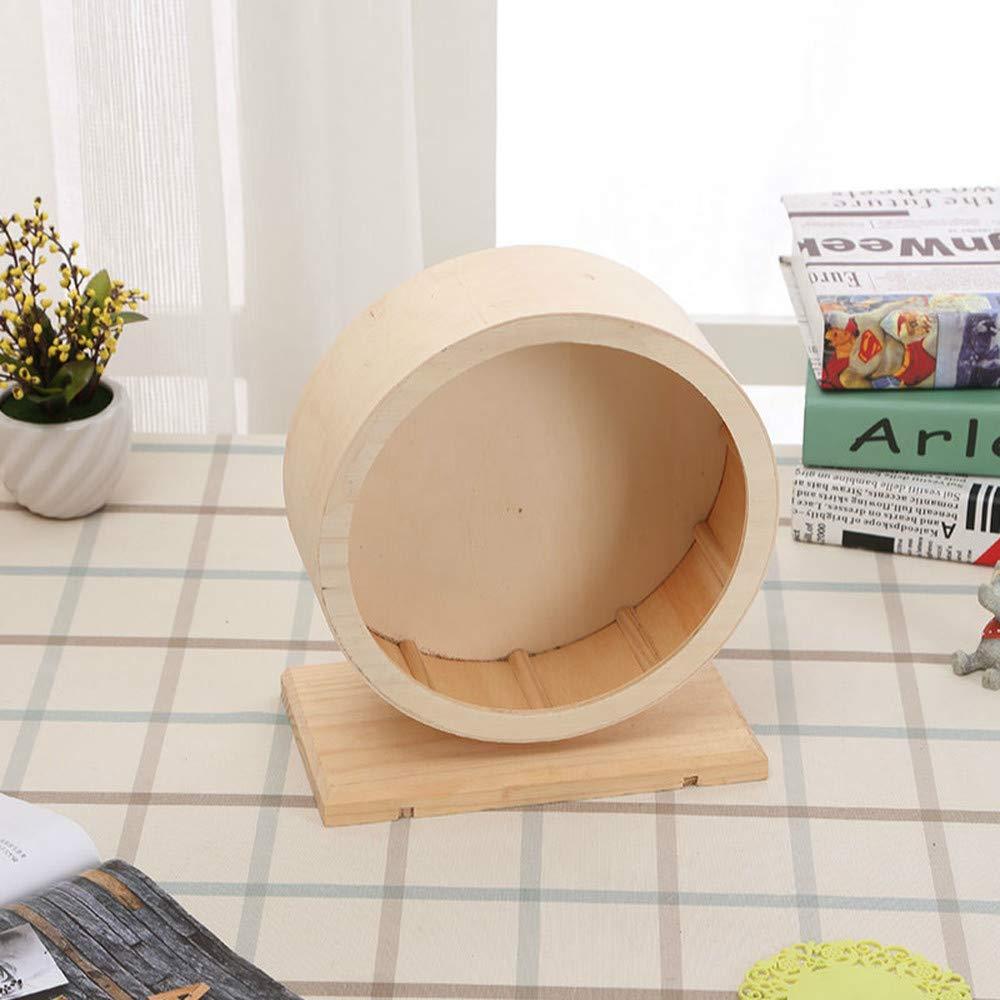 D20 X H23.5CM 1 PCS Small pet Supplies Wooden Silent Running Wheel Hamster Hedgehog Runner Running Ball Toy AP10121803PY (Size   D20 X H23.5CM)