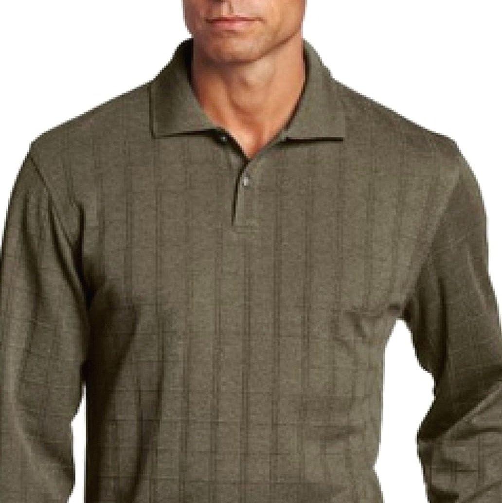 Van Heusen Mens Polo Shirt Big & Tall 4XL Long Sleeve Cotton Blend ...