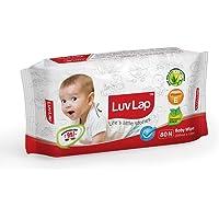 Luvlap Baby Wet Wipes with Aloe Vera (80 Wipes)
