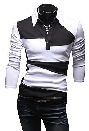 Lannister Fashion Camisas Polo De Manga Larga para Hombre Camisa ...