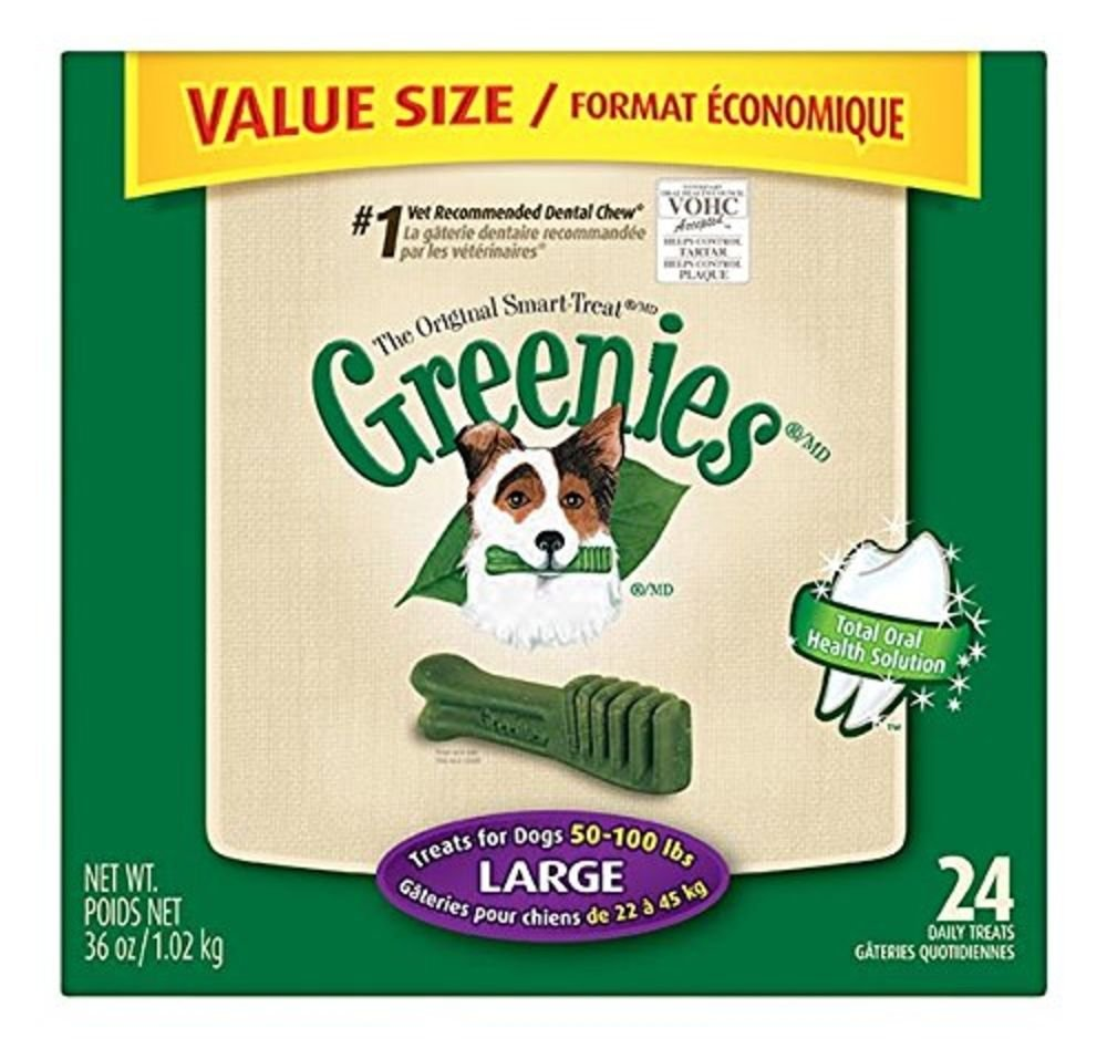 GREENIES Dental Chews Value Tub 36 Oz Large Dog, Pack of 4
