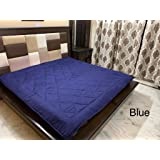 """Ab Home Decor Waterproof Dustproof Microfiber Cotton Mattresses Protector for King Size Bed (Blue, 72"""" x 78"""")"""