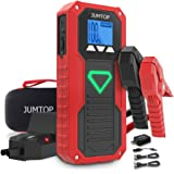 JUMTOP E18 Battery Jump Starter for up to 8.0L Gas 6.5L Diesel Engine,2000A Peak 14400mAh Car Battery Booster,Portable Power