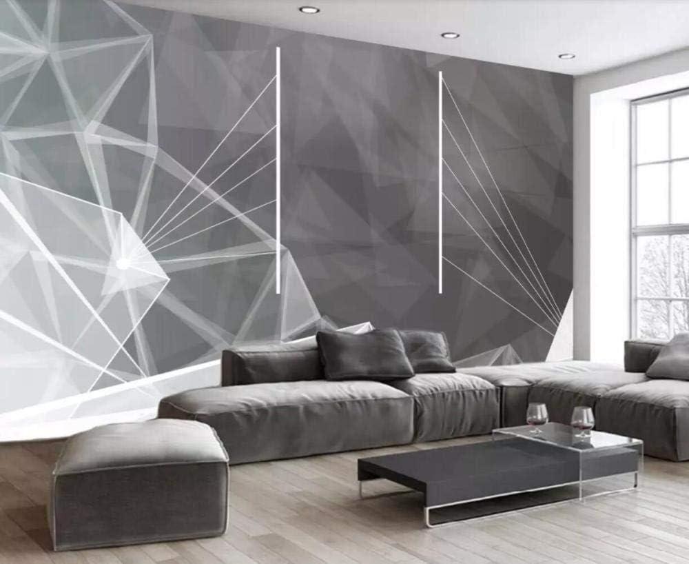 Wallpaper 3d Mural Modern Industrial Style Geometric 3d Mural Living Room Sofa Tv Wall Bedroom Wallpaper W 430x H 300cm Amazon Co Uk Diy Tools