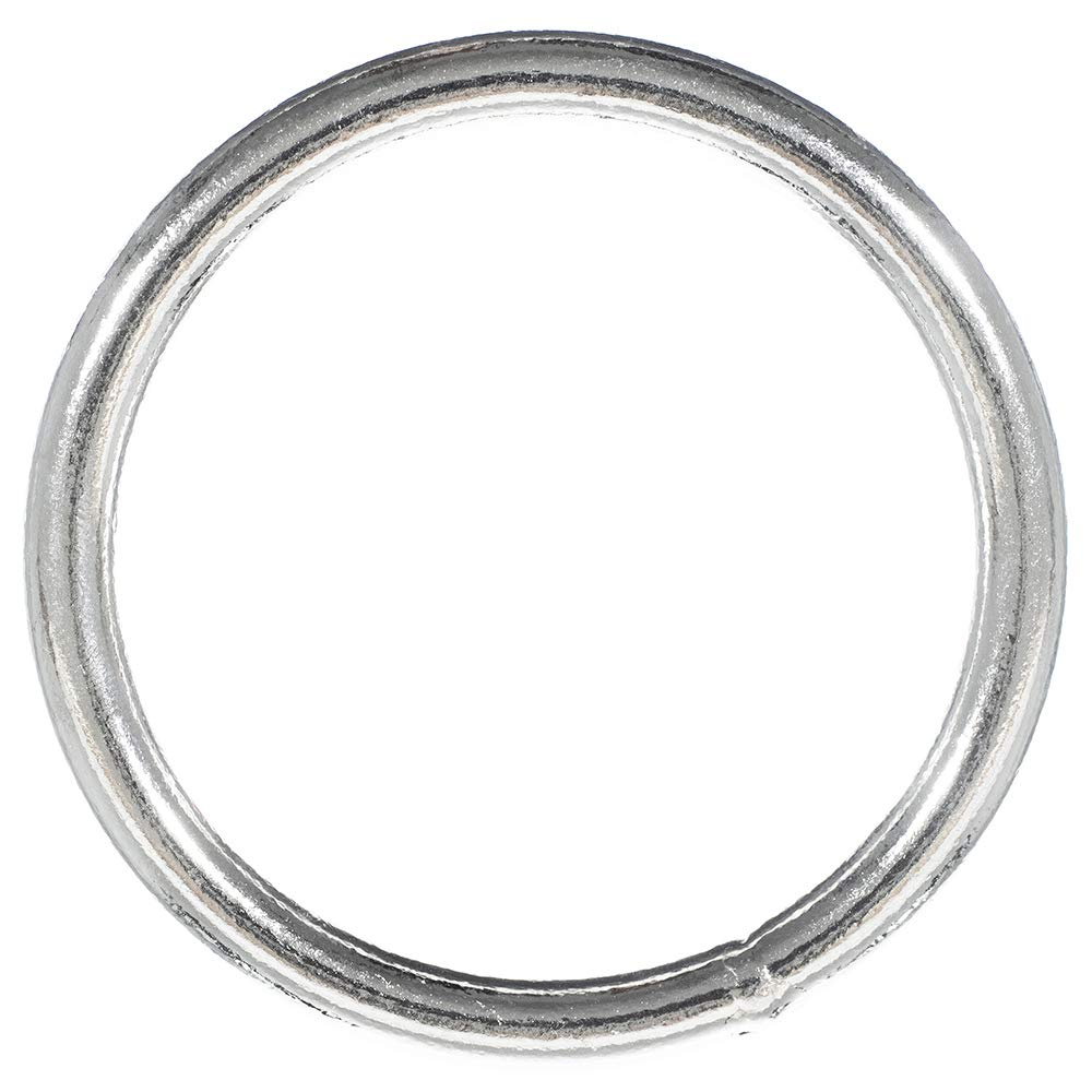 Craft County Nickel Plated 2 Inch Welded Steel O-Ring - For Jewelry Making, Macramé, and Wall Art (50 Pack)