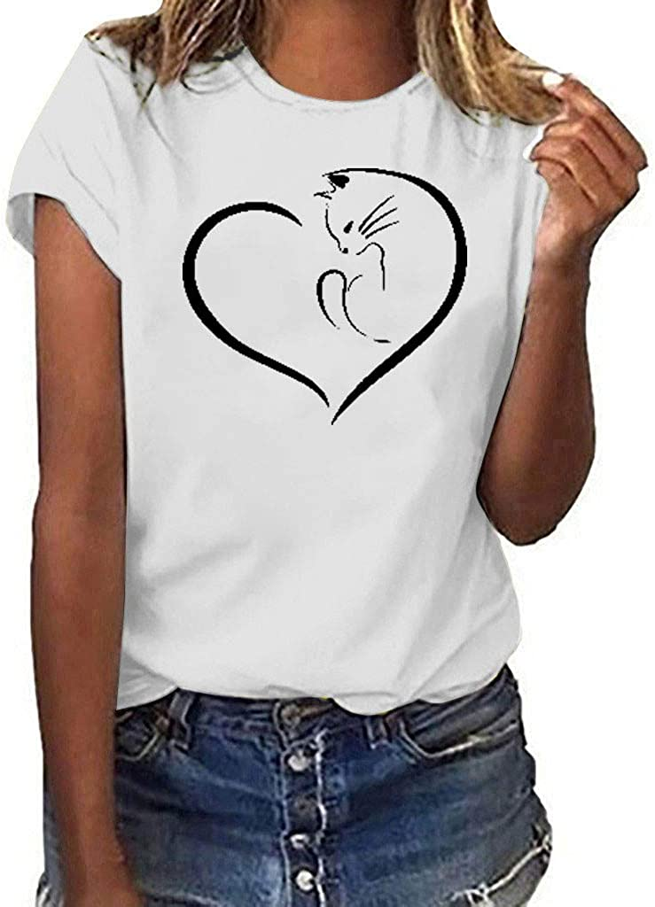 YKARITIANNA - Camiseta de Manga Corta para Mujer y niña (Talla Grande) - Blanco - X-Large: Amazon.es: Ropa y accesorios