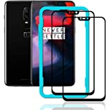 Ibywind Screen Protector for OnePlus 6 [Pack of 2] Full Curved 9H Tempered Glass Protector with Back Carbon Fiber Skin Protec