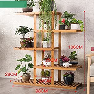 Flower Racks Flower stand Plant stand Plant flower pot rack Display shelf Shelf holds Wood plant stand Balcony Solid wood Indoor Living room-C